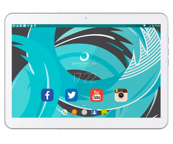 BRIGMTON BTPC-10213QC3G BLANCO TABLET 3G DUAL SIM 10'' IPS HD/4CORE/16GB/1GB RAM/2MP/0.3MP