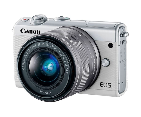 CANON KIT EOS M100 BLANCO CÁMARA COMPACTA 24.2MP FULL HD DIGIC 7 WIFI NFC BLUETOOTH + OBJETIVO EF-M 15-45mm