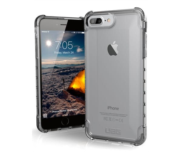 URBAN ARMOR GEAR PLYO CARCASA IPHONE 8 PLUS TRANSPARENTE RESISTENTE