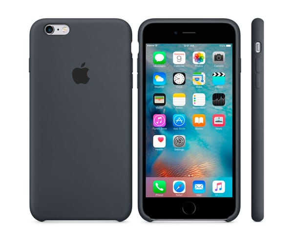 APPLE MKXJ2ZM/A GRIS CARBÓN CARCASA DE SILICONA IPHONE 6S PLUS/6 PLUS