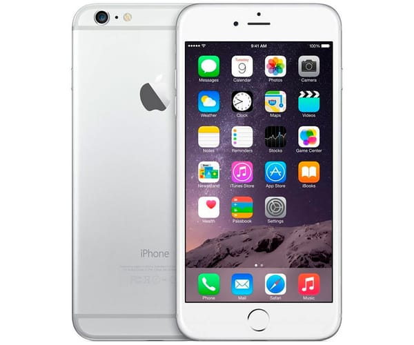 APPLE IPHONE 6 PLUS 128GB PLATA REACONDICIONADO CPO MÓVIL 4G 5.5'' RETINA FHD/2CORE/64GB/1GB RAM/8MP/1.2MP