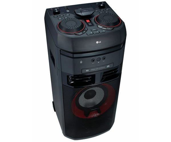 LG XBOOM OK55 SISTEMA DE AUDIO DE ALTO VOLTAJE 500W BLUETOOTH PARTY LINK USB FUNCIONES DJ Y KARAOKE STAR