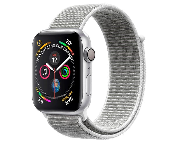 APPLE WATCH SERIES 4 PLATA CON CORREA LOOP GRIS RELOJ 44MM SMARTWATCH 16GB WIFI BLUETOOTH GPS PANTALLA OLED