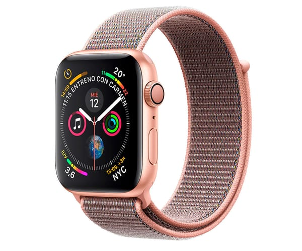 APPLE WATCH SERIES 4 ORO CON CORREA LOOP ROSA RELOJ 40MM SMARTWATCH 16GB WIFI BLUETOOTH GPS PANTALLA OLED