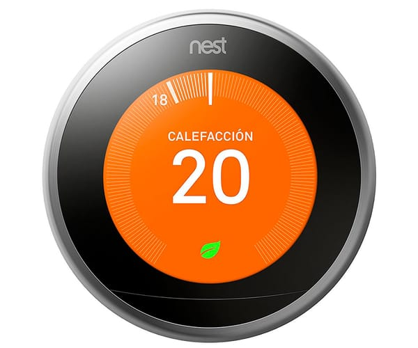 NEST LEARNING THERMOSTAT TERMOSTATO INTELIGENTE CONECTADO PROGRAMABLE CON DISPOSITIVO MÓVIL