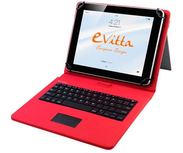 E-VITTA FUNDA ROJA CON TECLADO TABLETS DE 9.7'' A 10.1'' EVUN000704 KEYTAB USB TOUCHPAD