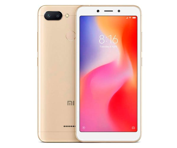 XIAOMI REDMI 6 DORADO MÓVIL 4G DUAL SIM 5.45'' IPS HD+/8CORE/64GB/3GB RAM/12MP+5MP/5MP