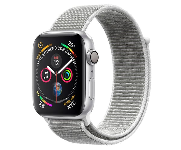 APPLE WATCH SERIES 4 CELL PLATA CON CORREA LOOP NACAR RELOJ 44MM SMARTWATCH 16GB WIFI BLUETOOTH GPS PANTALLA OLED